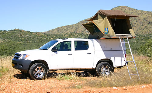 Group W – 4×4 Toyota Double Cab 1 tent